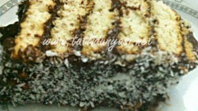 Pudingli Pratik Bisküvili Pasta