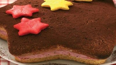 Çilek Kremalı Yıldız Kek