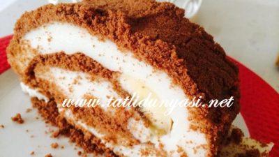 Kakao Bisküvili Muzlu Rulo