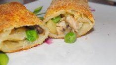 Sebzeli Mantarlı Tavuklu Börek