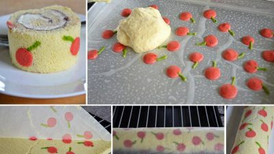 Muzlu Kirazlı Rulo Pasta