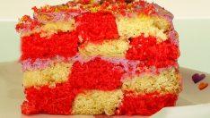 Renkli Damalı Pasta