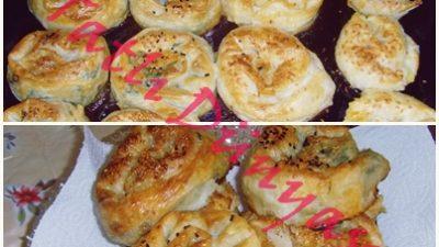 Ispanaklı ve Patatesli Gül Böreği