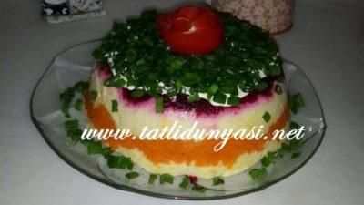 Rengarenk Patates Salatası