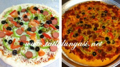Karışık ve Kaşar Peynirli Pizza