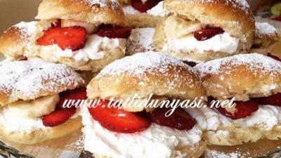 Pratik Çilekli Muzlu Alman Pastaları