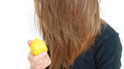 Limon ile Saç Rengini Açma
