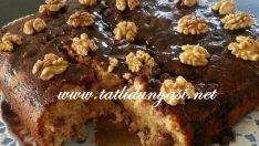 Cevizli Beyaz Çikolatalı Kek