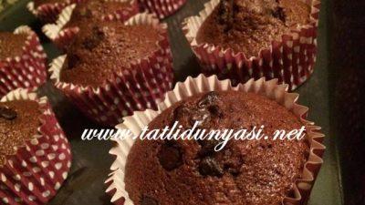 Kakaolu Çikolatalı Muffinler