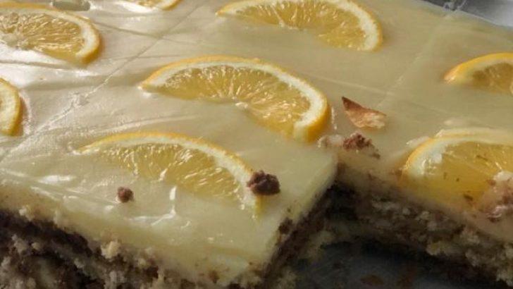 Limon Soslu Bisküvi Pastası