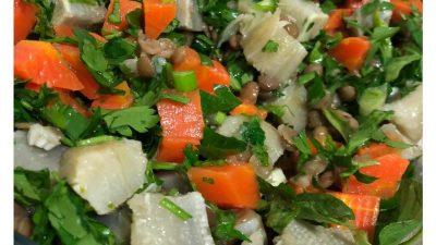 Yeşil Mercimekli Enginar Salatası